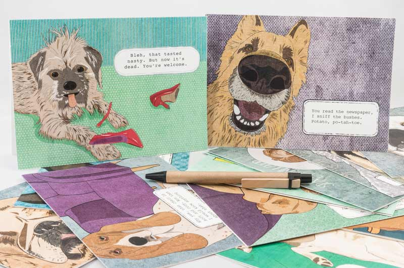 Sassypants Design funny dog greeting cards